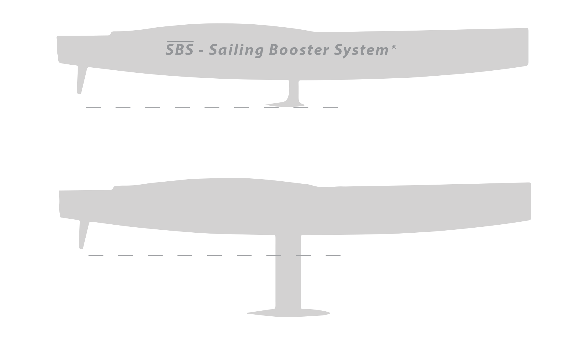 The lift wing may reduce bulb keel weight up to 68%. 